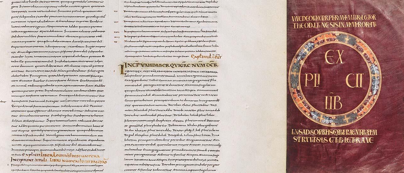 Bible de Théodulfe, sur parchemin, réalisée sous l'impulsion de Charlemagne entre 801 et 818 à Orléans ou Fleury, folios 30 et 347. © BnF  MSS Latin 9380