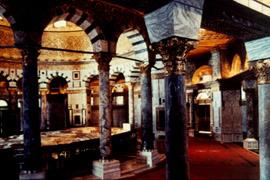 Intérieur du Dôme du rocher à Jérusalem