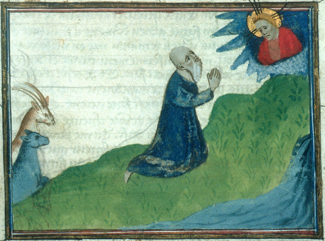 Abraham priant Dieu Bible historiale bnf