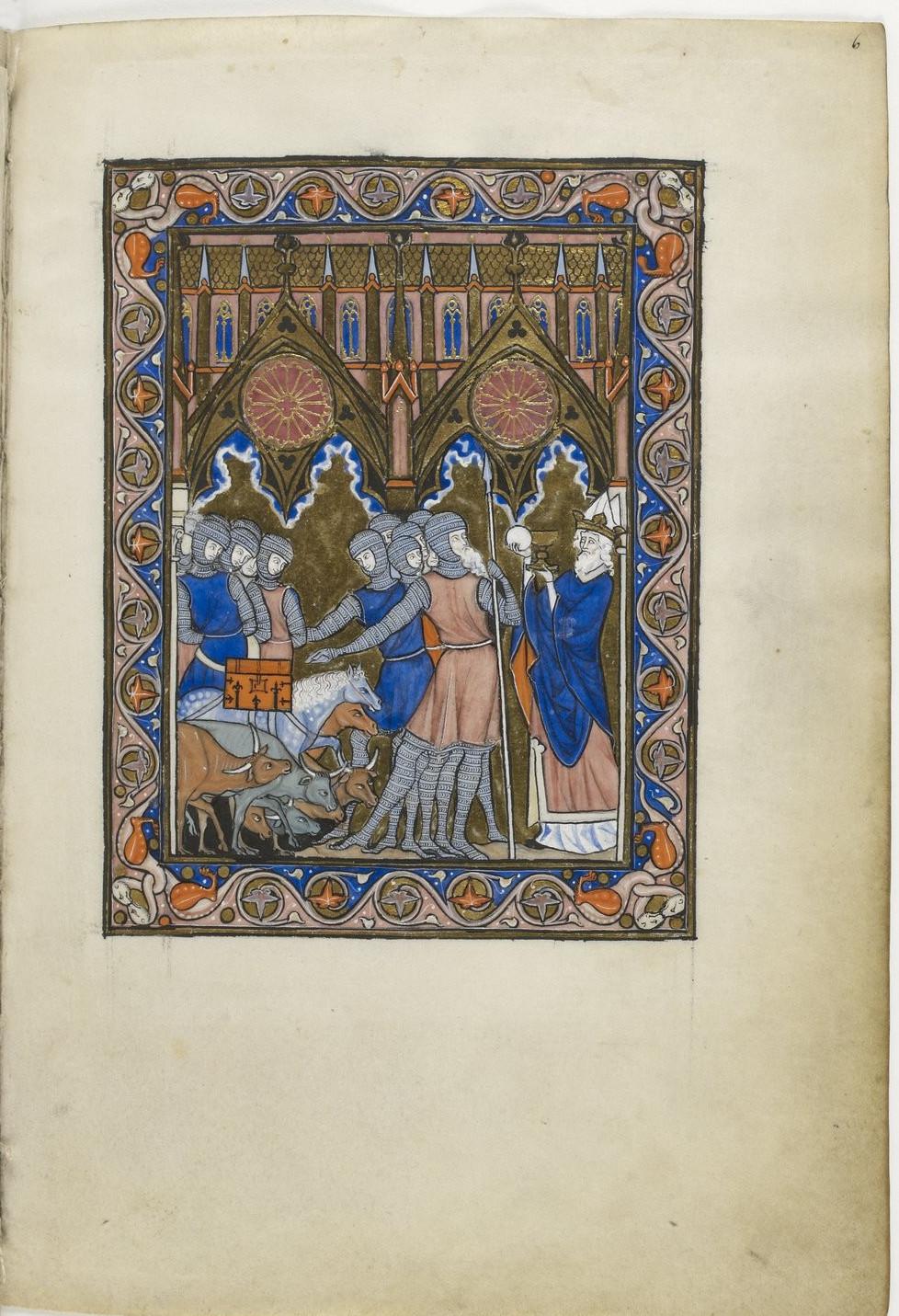 Abram remettant la dime du butin à Melchisédek
