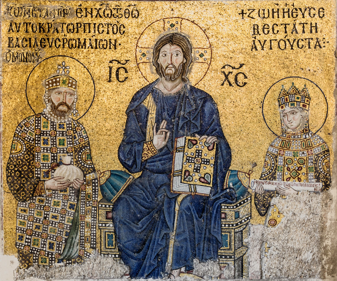 Christ pantocrator Sainte Sophie Constantinople