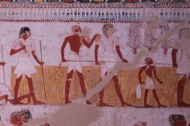 Les scribes accompagnant les arpenteurs