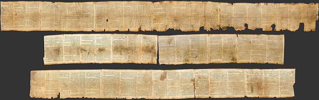 Vue complète du rouleau d'Esaïe