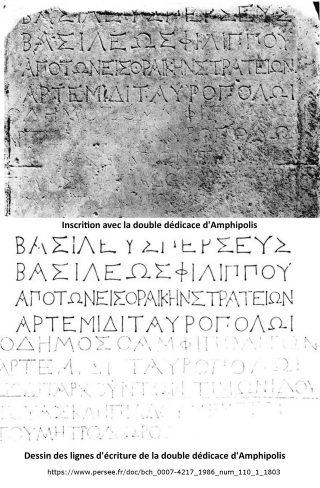 La double dédicace d'Amphipolis
